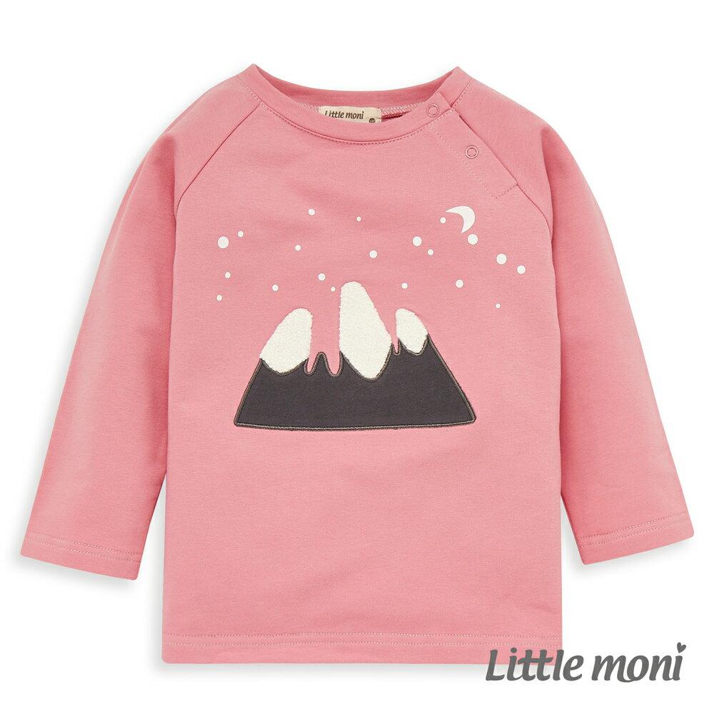 Little moni 圓領立體刺繡毛圈上衣 -粉紅 0