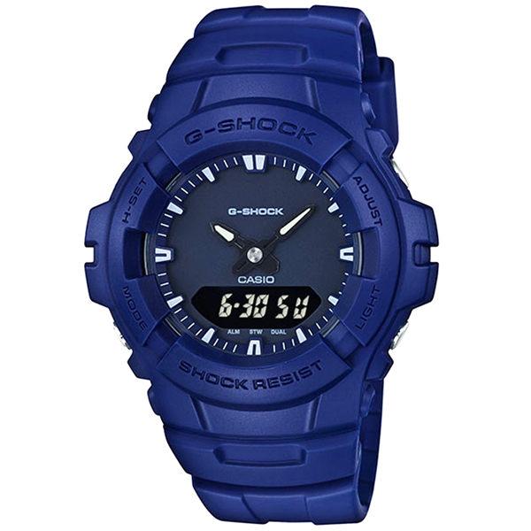 【時光鐘錶】G-SHOCK/CASIO G-100CU-2A(G-100CU-2ADR) 雙顯 防水 錶