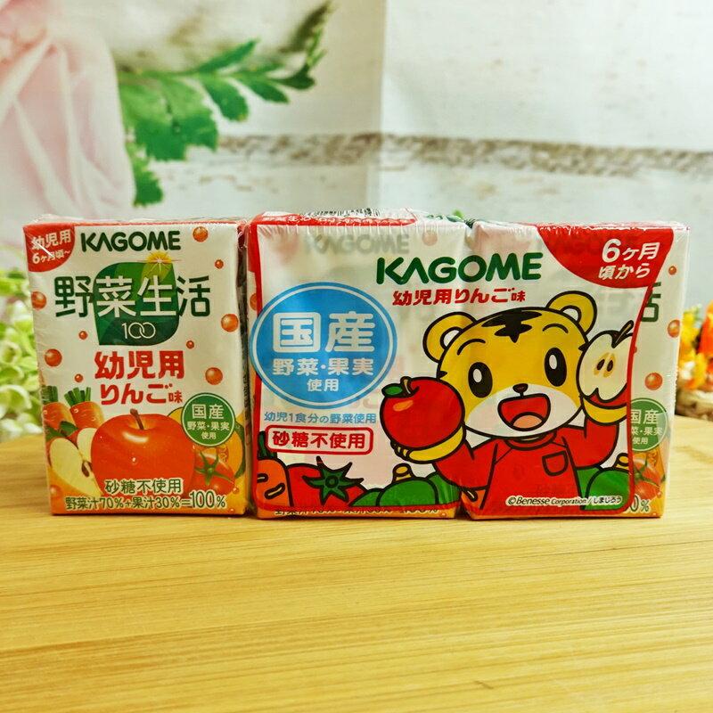 可果美巧虎野菜汁-蘋果 100ml【49878110】(日本飲品) 0