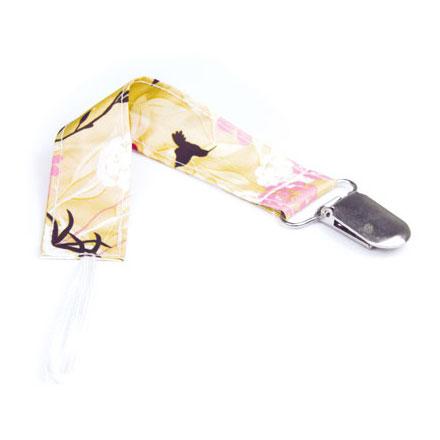 【悅兒樂婦幼用品?】美國Bumkins 防水奶嘴鏈-日式花朵 BKPC-464
