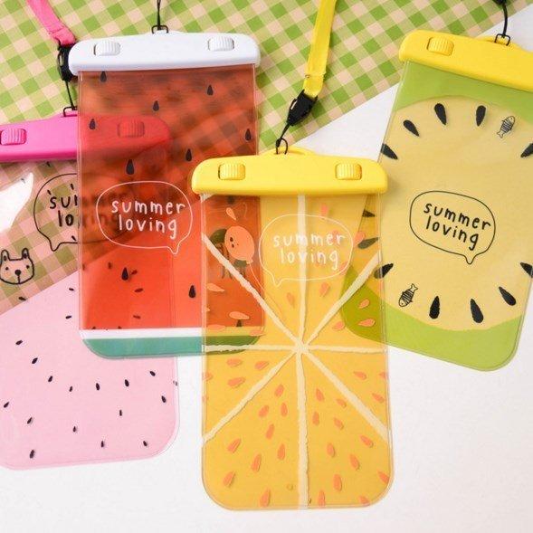 =優生活=韓國夏季水果防水手機袋 游泳潛水旅行手機保護套收納袋透明防水袋 可觸控