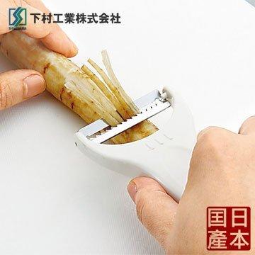 【下村工業】日本製果菜瓜皮刨絲器 KZ-607