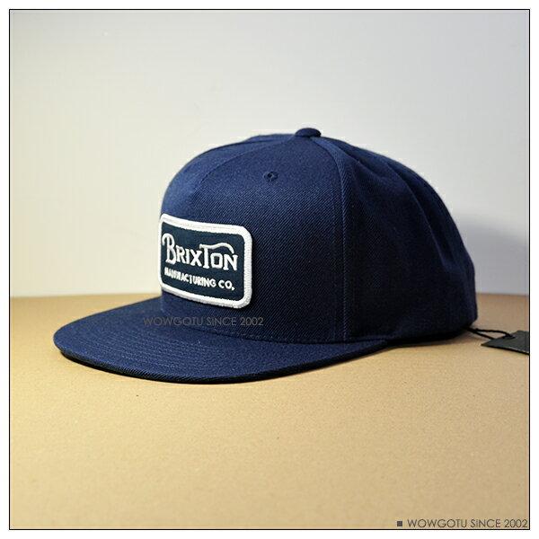 ~ BRIXTON ~街頭 棒球帽 ~GRADE SNAPBACK帽款 深藍