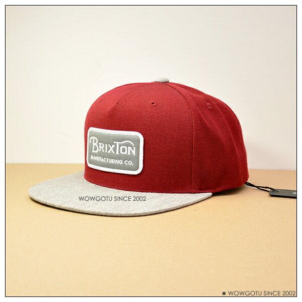 ~ BRIXTON ~街頭 棒球帽 ~GRADE SNAPBACK帽款 灰紅