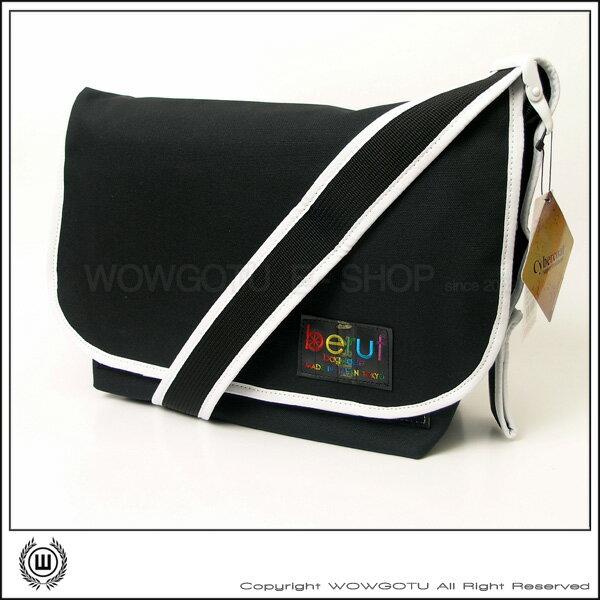 【 BERUF 】與眾不同.日本最激潮貨Messenger Bag - 17M 黑白 - 好評發售中