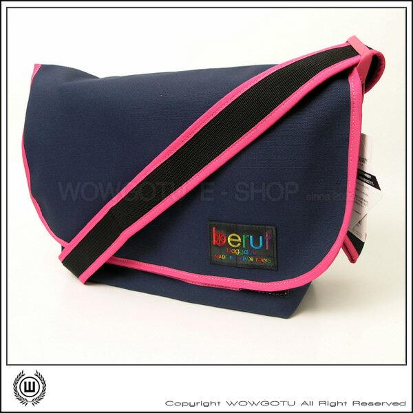 【 BERUF 】與眾不同.日本最激潮貨Messenger Bag - 17M 藍粉 - 好評發售中