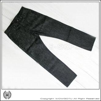 香港潮牌Double Dog 授權販售店 - 原色重磅刺繡星星中版牛仔褲
