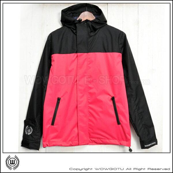 【WOWGOTU BRAND】Bike Jacket 單車風衣外套 No.2 - 防水 防塵 防風 - 黑/桃紅 配色