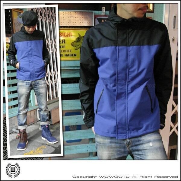 【WOWGOTU BRAND】Bike Jacket 單車風衣外套 No.2 - 防水 防塵 防風 - 黑/寶藍 配色