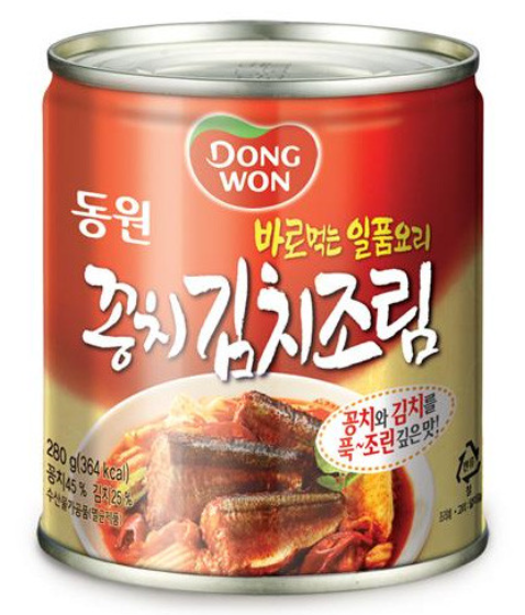 DONGWON 韓國 調味泡菜秋刀魚罐頭 280g
