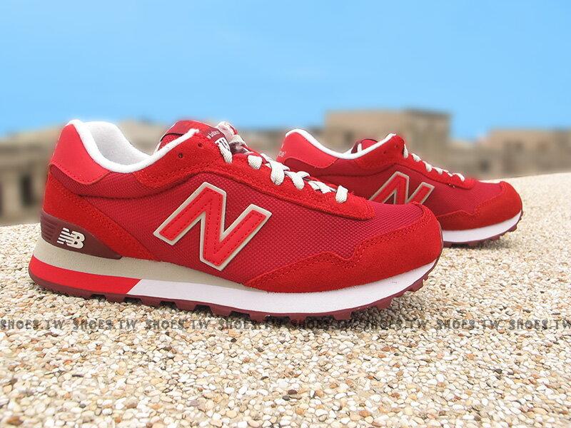 《下殺7折》Shoestw【WL515SLB】NEW BALANCE NB515 復古慢跑鞋 紅色 女生尺寸