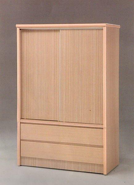 【尚品家具】☆特別優惠☆101-07白橡4x6 雙抽推門衣櫥/衣櫃/收納櫃/櫥櫃~另有胡桃