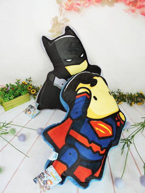 ~*MY 71*~ 絨毛娃娃 正義聯盟DC人型抱枕 可愛 蝙蝠俠 超人 卡通枕 兒童枕 車枕 靠枕 午安枕