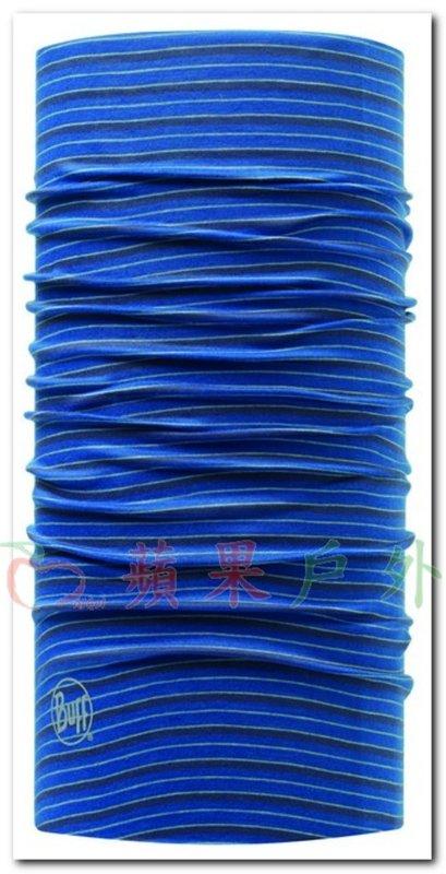 【【蘋果戶外】】BF108943 西班牙 BUFF 魔術頭巾 圓頂湛藍 織色頭巾 透氣吸汗速乾登山單車