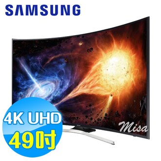 SAMSUNG三星 49吋4K UHD黃金曲面聯網 LED液晶電視 UA49MU6300WXZW