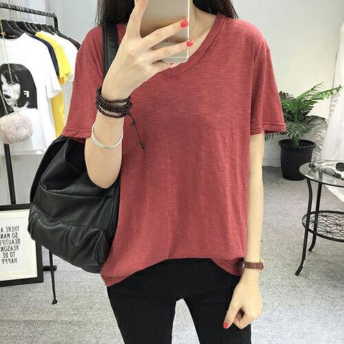 竹節棉寬鬆打底T恤(3色XL~4XL)*ORead*