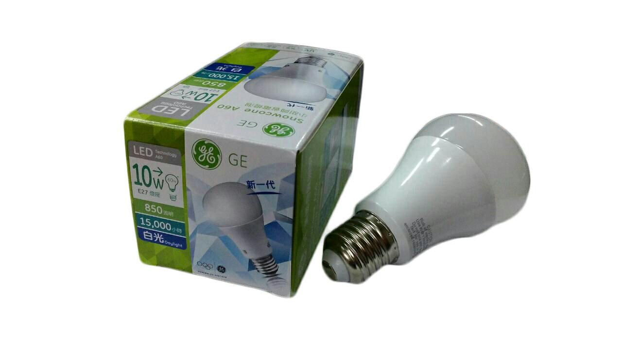 【免運費】GE 美國奇異照明 LED 10W 白光 E27省電燈泡 *1箱 (6個/箱) 1