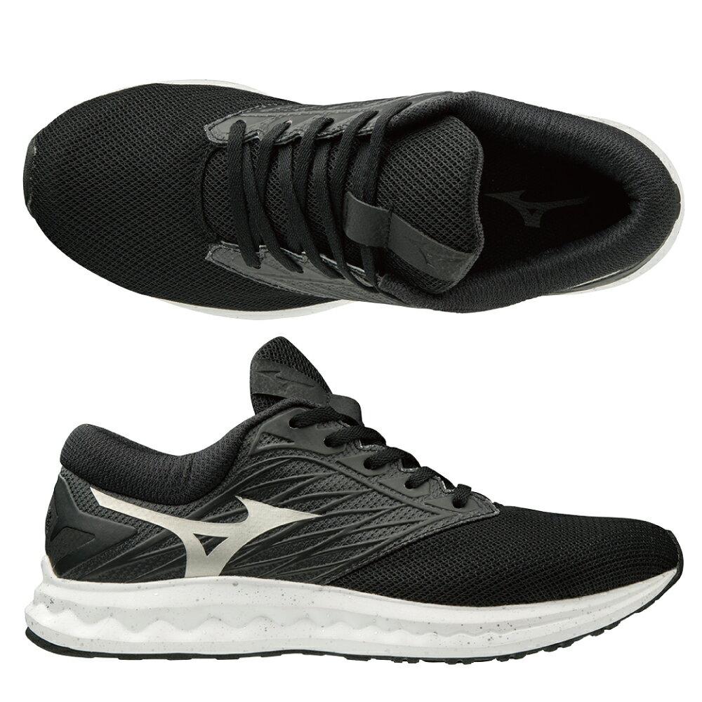 WAVE POLARIS 一般型男款慢跑鞋 J1GC198109(黑X白)【美津濃MIZUNO】 1