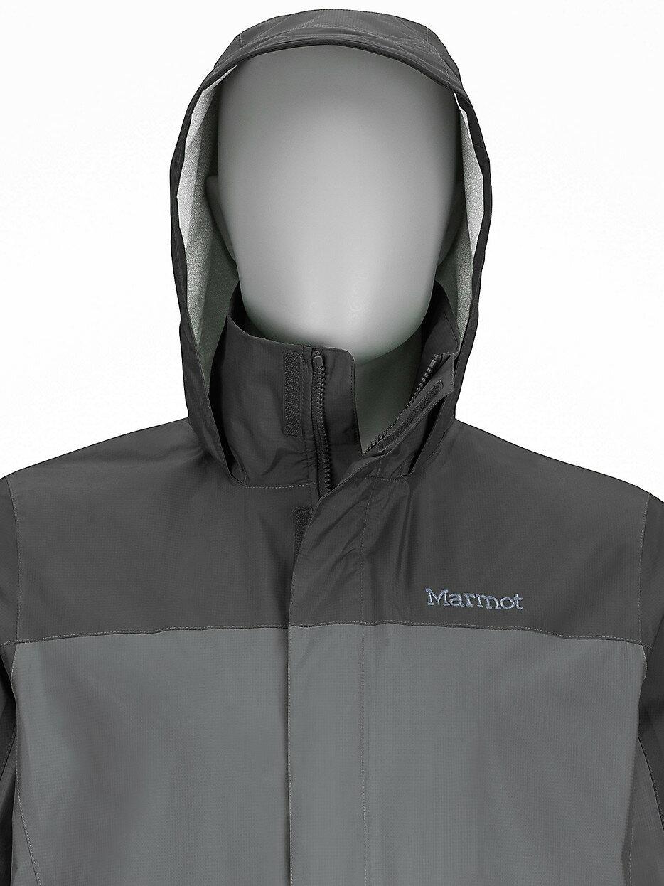 ├登山樂┤美國Marmot土撥鼠 PreCip 男款防水透氣外套/風雨衣 灰/深灰 #41200-1452