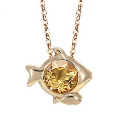 玫瑰金純銀項鍊 水晶吊墜 ~雙魚座 精美十二星座生日情人節 女飾品4色73dj8~ ~~米