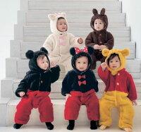 小熊維尼周邊商品推薦[暖冬限定]日本迪士尼商店瑪麗貓維尼熊奇奇連身衣羊毛衣毛帽可拆萬聖節聖誕節100768海渡