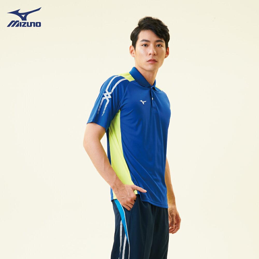 32TA801822(深藍)熱遮蔽布料 男短袖POLO衫【美津濃MIZUNO】 1
