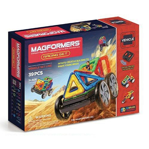 【韓國 Magformers 磁性建構片】遙控賽車 39pcs ACT06117