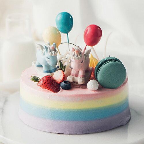 彩虹獨角物語  8吋【PATIO帕堤歐】造型蛋糕/生日蛋糕/卡通蛋糕