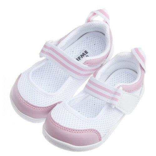 【安琪兒】日本【IFME】夏日粉白透氣網布機能室內鞋