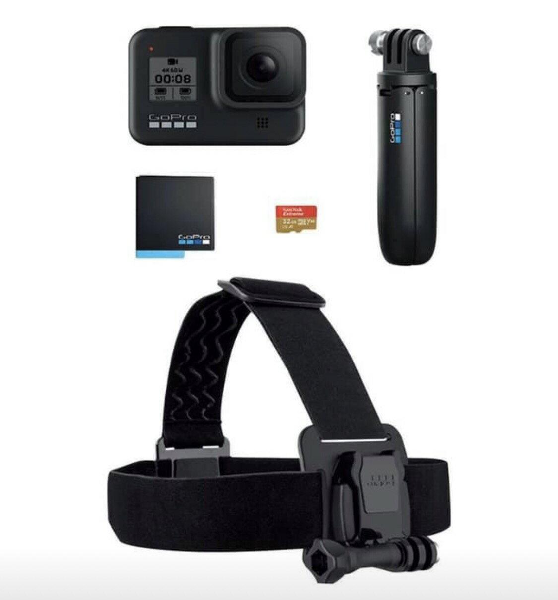 【超值組合】 Gopro  HERO8 Black 運動攝影機 【24H快速出貨】極限運動 攝影機 防水 觸控 台閔原廠公司貨 +12期0%