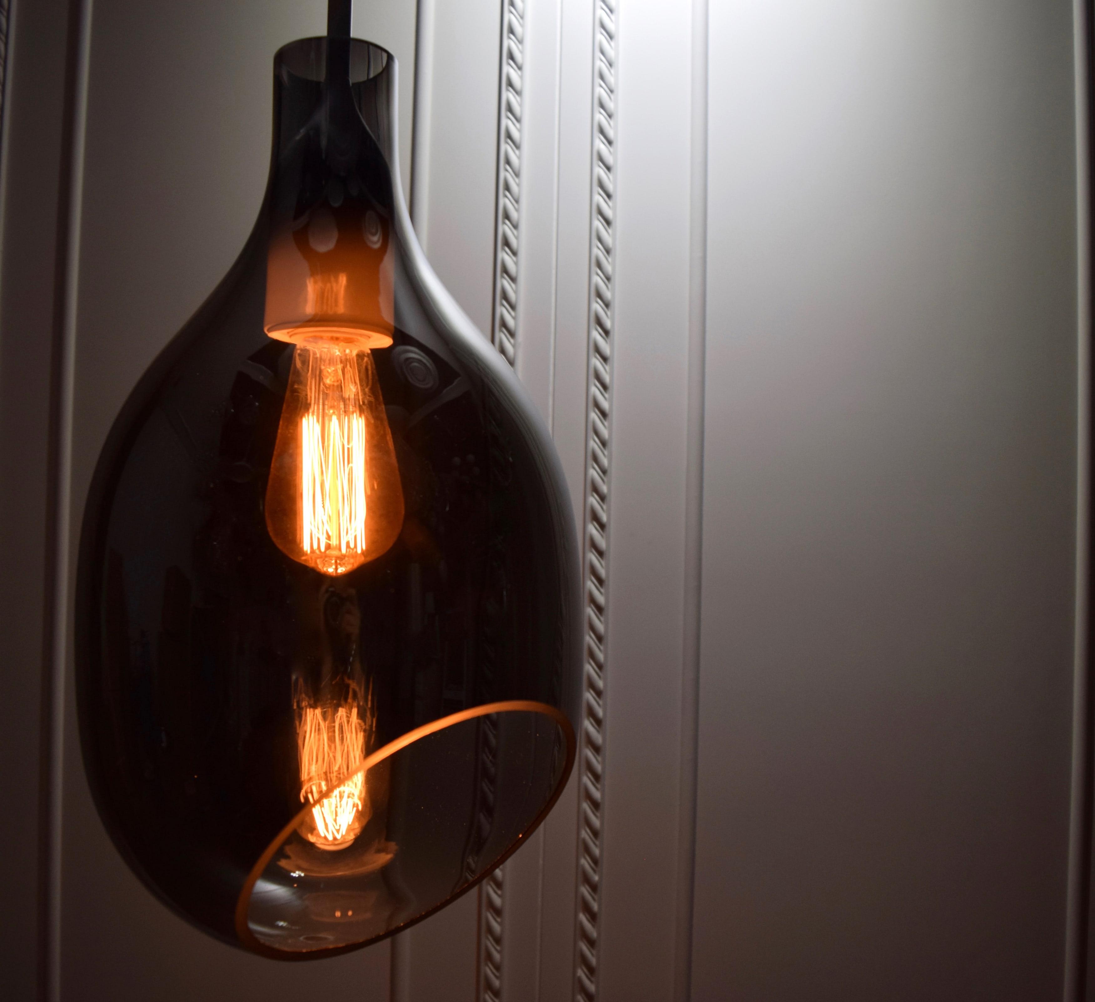 VESSEL 斜口玻璃煙灰色吊燈-BNL00127 1