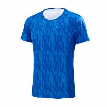 J2MA751022(藍)日本同步上市 昇華印刷 吸汗快乾 男路跑T恤 【美津濃MIZUNO】 0
