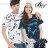 ☆BOY-2☆ 【IT3027】情侶滿版休閒文字CHUAN YUAN羽毛短袖T恤 0