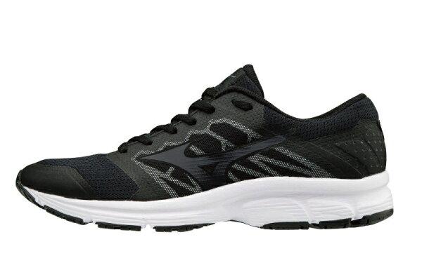 運動世界:MIZUNOEZRUNLX男鞋慢跑避震加強型透氣網布黑【運動世界】J1GE181851
