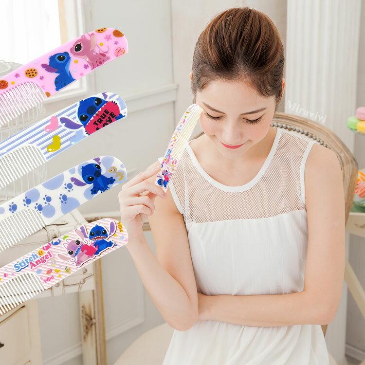 【Disney】可愛圖案造型扁梳/梳子/隨身梳-史迪奇