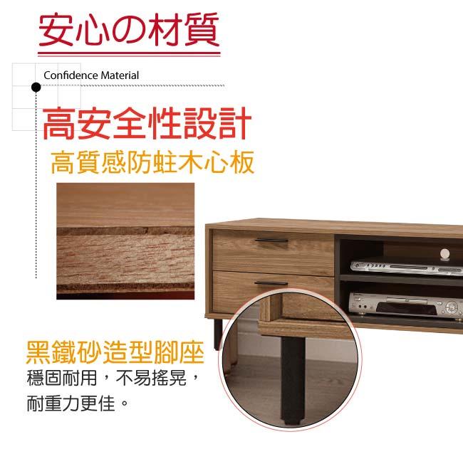 【綠家居】藍柏蒂 時尚5尺美型電視櫃/視聽櫃(二色可選)