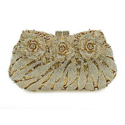 晚宴包鑲鑽手拿包-高貴奢華精美華麗女包包5色73su47【獨家進口】【米蘭精品】