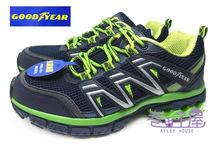 【巷子屋】GOODYEAR固特異 樂趣山林系列 男款穩定避震運動慢跑鞋 [53205] 藍綠 超值價$690