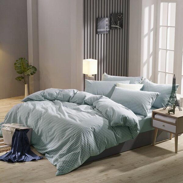床包兩用被套組雙人特大色織水洗棉法蘭西[鴻宇]台灣製2113