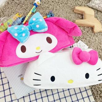 PGS7 三麗鷗系列商品 - 三麗鷗 圓弧型 面紙套 Kitty 凱蒂貓 Melody 美樂蒂【SFB7438】