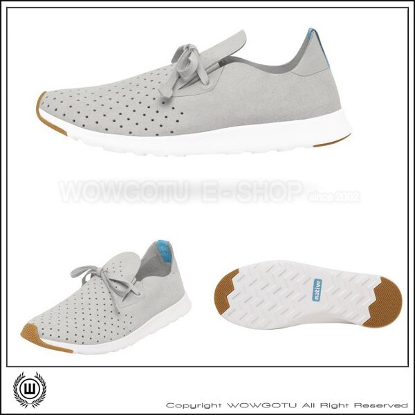NATIVE  SHOES - APOLLO MOC -PIGEON GREY / SHELL WHITE(1501) 0