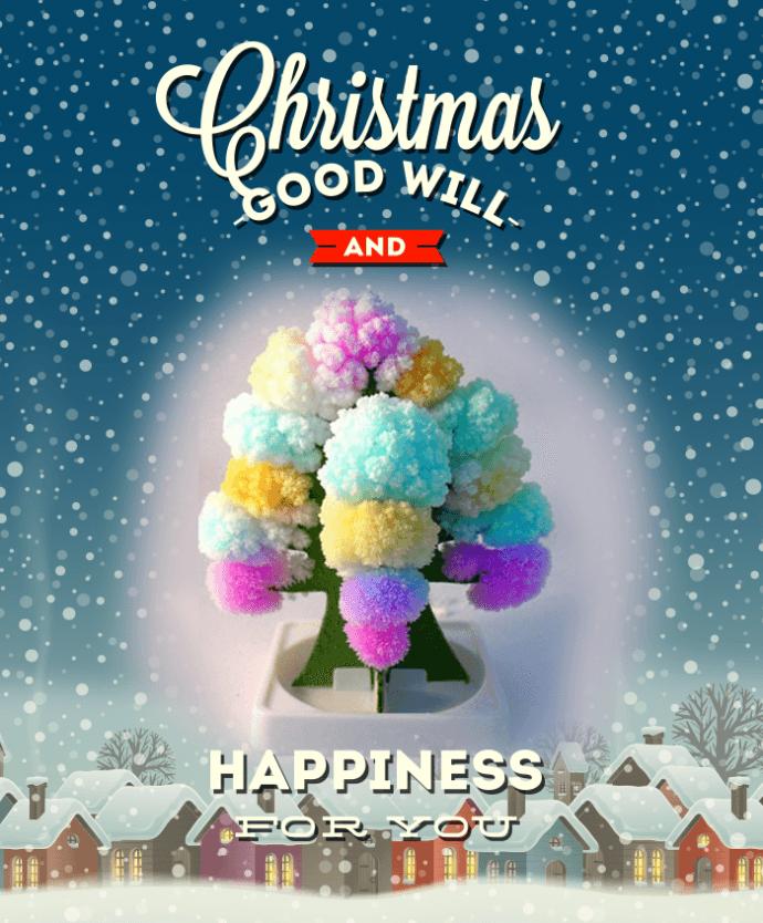 紙樹開花七彩聖誕樹(一組8入)