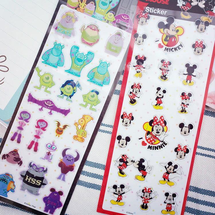 PGS7 迪士尼系列商品 - 迪士尼 水晶 裝飾 貼紙 米奇 怪獸大學 點綴 手帳 日記 卡片【SHO7083】