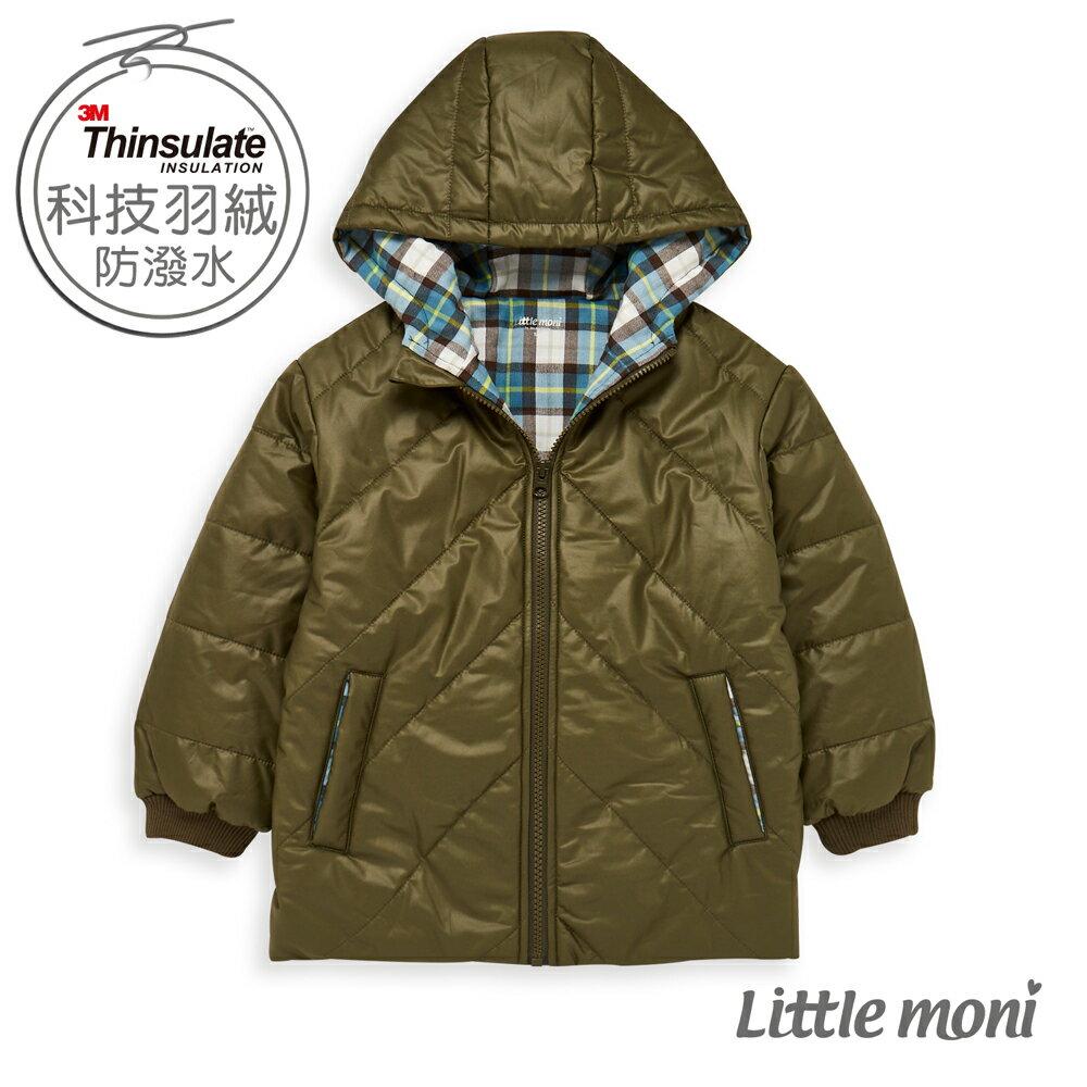 Little moni 3M科技羽絨保暖外套-軍綠(好窩生活節) 0