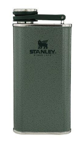 【【蘋果戶外】】Stanley 10-00837 綠 經典系列 寬口酒壺 8oz 0.23L 可攜式隨身不鏽鋼水壺