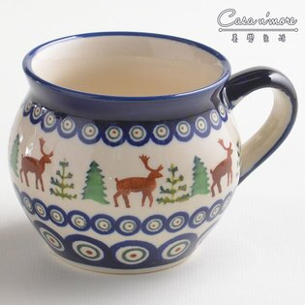 波蘭陶歡樂聖誕系列胖胖杯馬克杯咖啡杯水杯320ml波蘭手工製