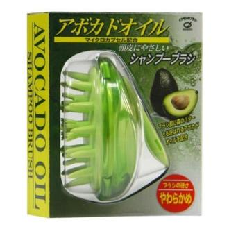日本原裝IKEMOTO池本酪梨油柔順按摩洗髮梳/梳子 (綠)