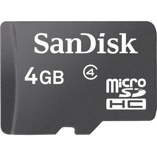 WholeSale 5 piece SanDisk 4GB microSDHC Class 4 4G microSD High Capacity micro SD SDHC C4 TF Flash Memory Card SDSDQ-004G + SD Adapter 0