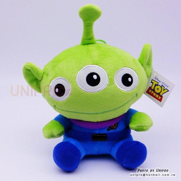 【UNIPRO】迪士尼正版三眼怪AlienQ版24公分絨毛玩偶娃娃禮物玩具總動員