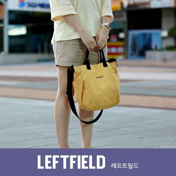 【韓國直送】側背包韓國LEFTFIELD馬卡龍色2way棉布背包手提肩背包NO.1216cotton